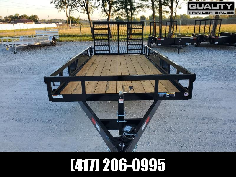 2021 H and H Trailer 82x16 Heavy Duty Rail Side Landscape Tra