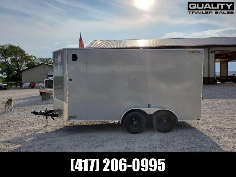 2021 H and H Trailer 7X14 TANDEM FLAT TOP HH VNOSE 7K CARGO