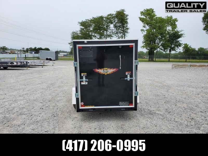 2021 H and H Trailer 5X10 SINGLE FLAT TOP HH VNOSE 3.5K CARGO