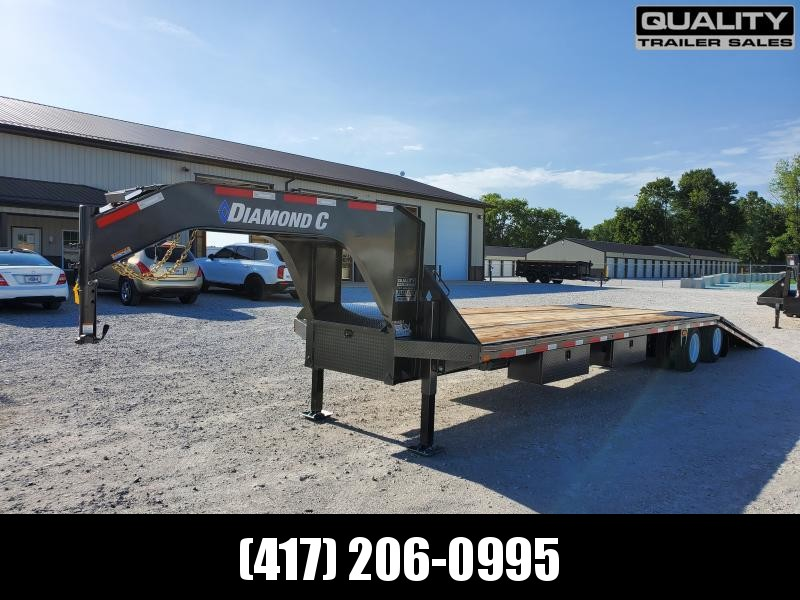 2020 Diamond C Trailers FMAX212 Flatbed Trailer 35x102 w/ Hydraulic Dove