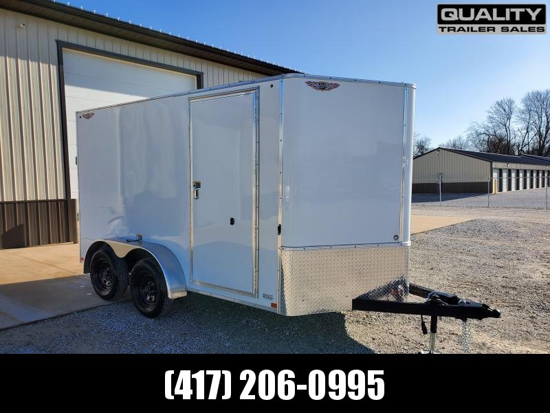 """2020 H and H Trailer 7X12 TANDEM 7K CARGO w/ 6'6"""" Height"""