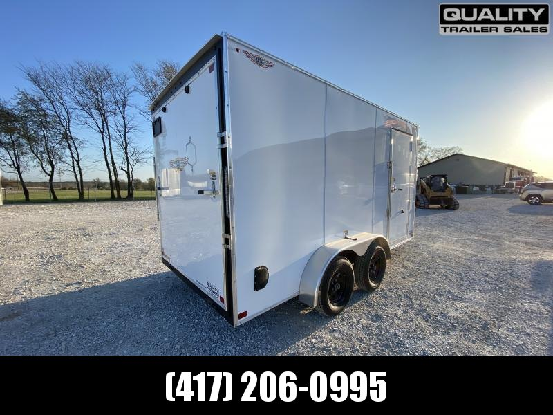 2021 H and H Trailer 7x14 HH Series Flat Top V-Nose Enclosed 7K