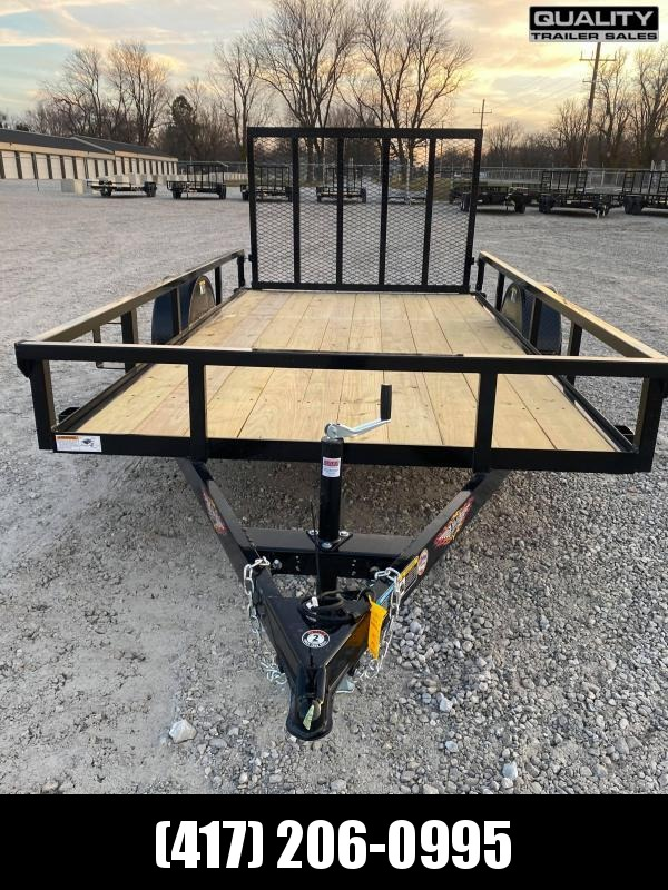 2021 H and H Trailer 76X12 STEEL RAIL SIDE 3.5K