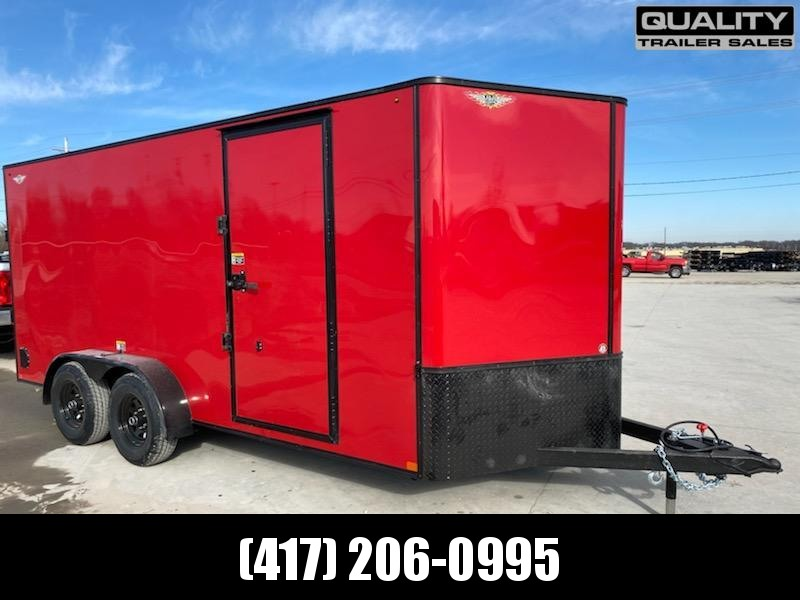 """2020 H and H Trailer 7X16 Tandem 10K CARGO w/ 6'6"""" Wall Height"""