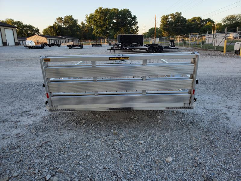 2021 H and H Trailer 82x14 Aluminum Rail Side Utility Trailer