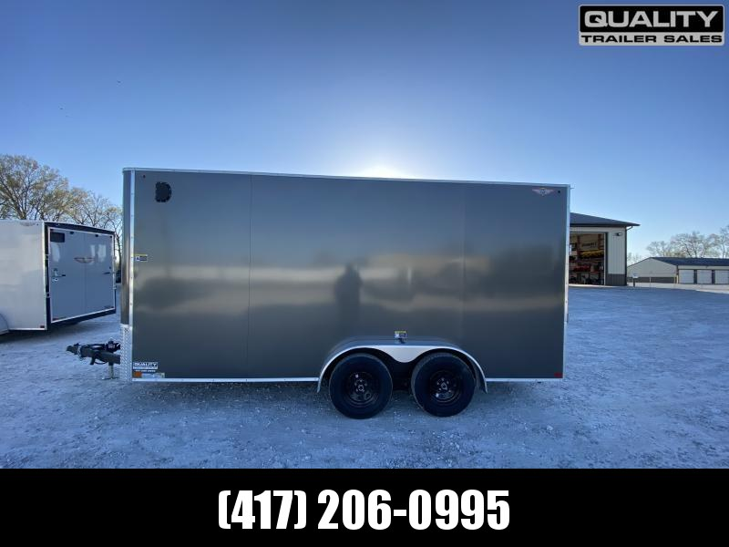 2021 H and H Trailer 7x16 HH Series Flat Top V-Nose Enclosed 7K