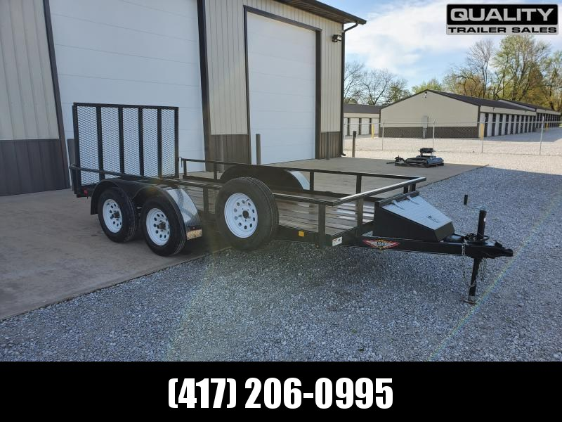 2018 H and H Trailer 76x14 STL RAIL SIDE TANDEM 7K Utility Trailer