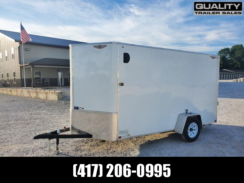 "2020 H and H Trailer 6X12 SINGLE FLAT TOP HH VNOSE 3.5K CARGO w/ 6'6"" Height"