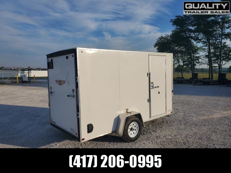 """2020 H and H Trailer 6X12 SINGLE FLAT TOP HH VNOSE 3.5K CARGO w/ 6'6"""" Height"""