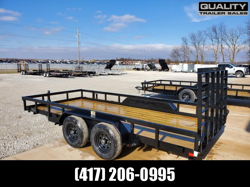 2020 H and H Trailer 82x16 Heavy TRS 10K Utility Trailer