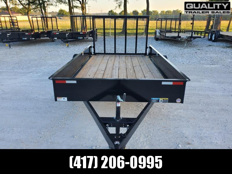 2021 H and H Trailer 76x12 Solid Side Utility Trailer  3K Idl