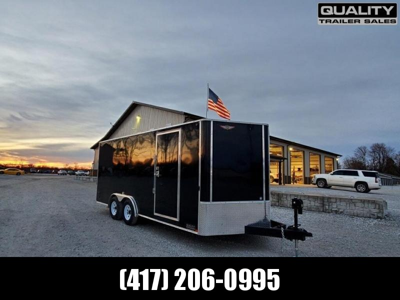 2020 H and H Trailer 8x18 TDM FLAT TOP HH VN Enclosed Cargo Trailer