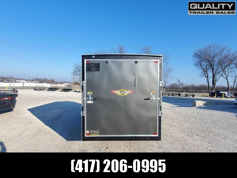 2021 H and H Trailer 7x16 HH Series Flat Top V-Nose Enclosed 10K w/ 7' Wall Height