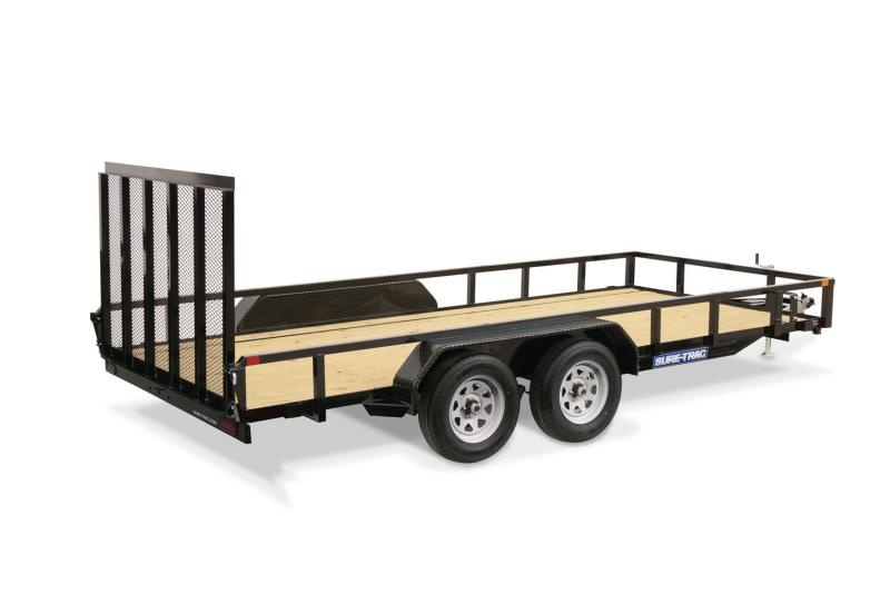 2020 Sure-Trac 7 X 16 TA Tube Top Utility Utility Trailer