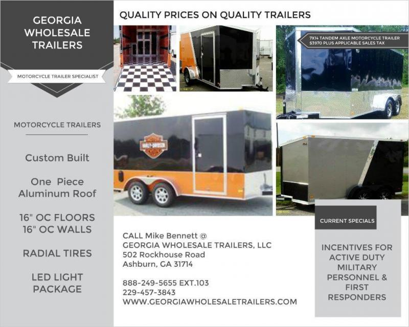 2017 Covered Wagon Trailers GOLD MINE SERIES TANDEM AXLE MOTORCYCLE TRAILER