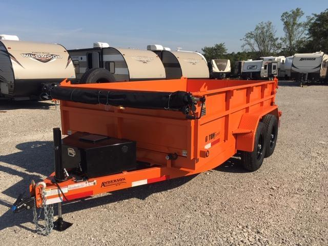 2019 Anderson Manufacturing D7126TLP Dump Trailer