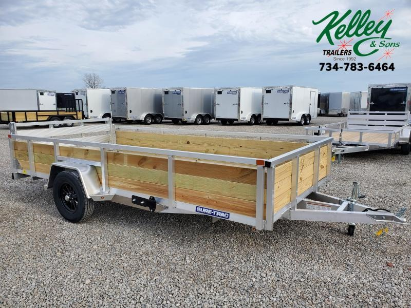 2021 Sure-Trac 7x14 Aluminum Tube Top 3-Board Utility Trailer