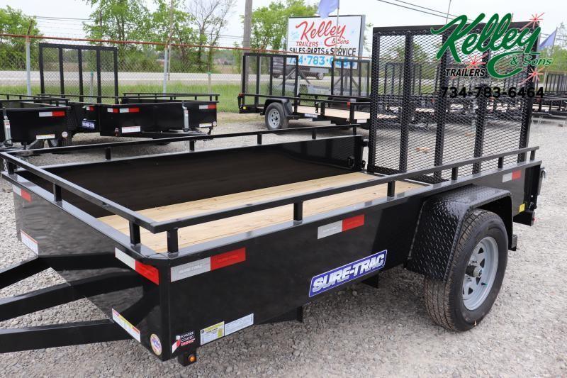 2021 Sure-Trac 5X10 Steel High Side Utility Trailer