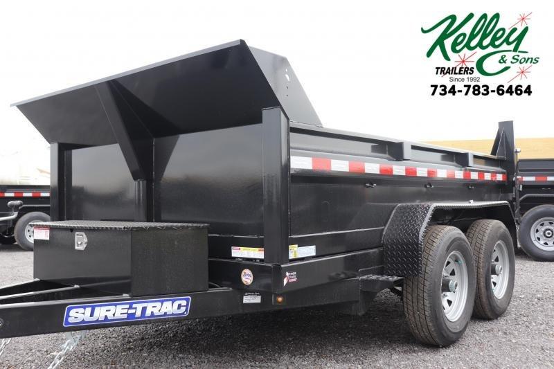 "2021 Sure-Trac 72""x10 10K Single Ram Dump Trailer"