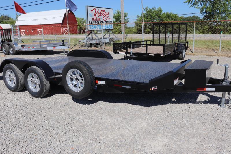 2022 Sure-Trac 7x18 7K Steel Deck Car Hauler Trailer