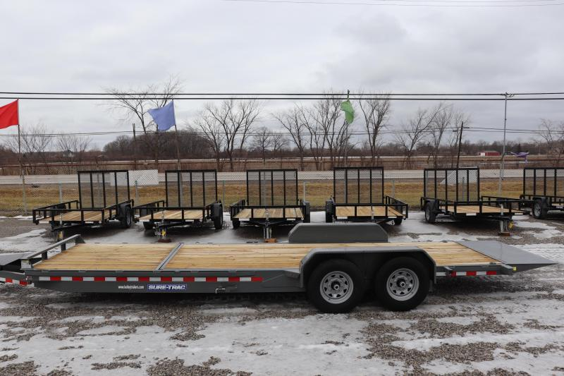 2020 Sure-Trac 7x18+6 14K Tilt Bed Equipment Trailer