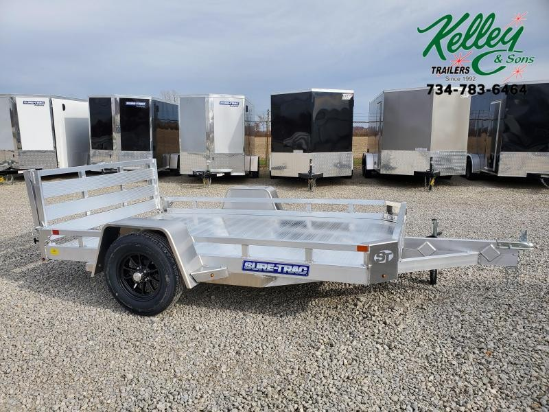 2021 Sure-Trac 7x10 Aluminum Low Side Utility Trailer