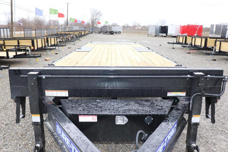 2021 Sure-Trac 102x22+4 17.6K Deckover Tilt Equipment Trailer