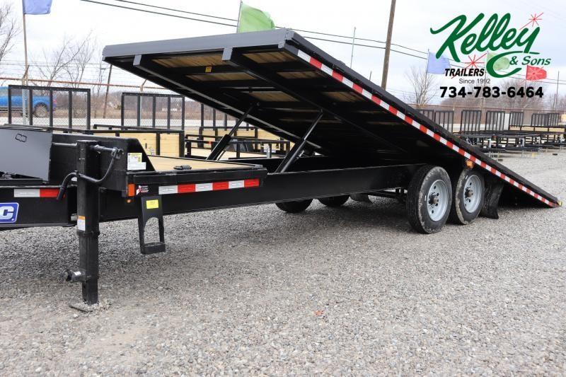 2021 Sure-Trac 102x22+4 17.6K Deckover Tilt Equipment Trailer