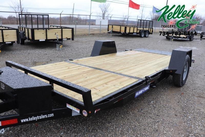 "2022 Sure-Trac 78""x12+4 7.8K Tilt Bed Equipment Trailer"