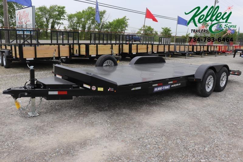 2021 Sure-Trac 7x20 10K Steel Deck Car Hauler Trailer