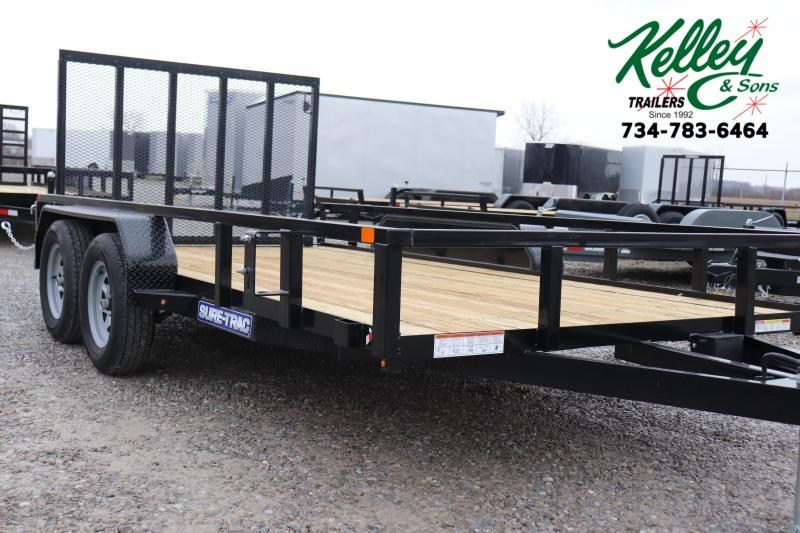 2021 Sure-Trac 7x14 7K Tube Top Utility Trailer