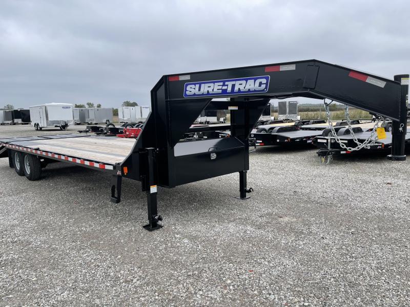 2021 Sure-Trac 8.5x20+5 15K Deckover Gooseneck Flatbed Trailer