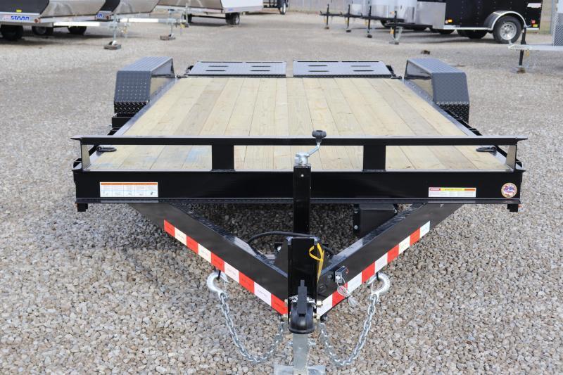 2020 Sure-Trac 7x15+3 14K Implement HD Universal Ramp Equipment Trailer
