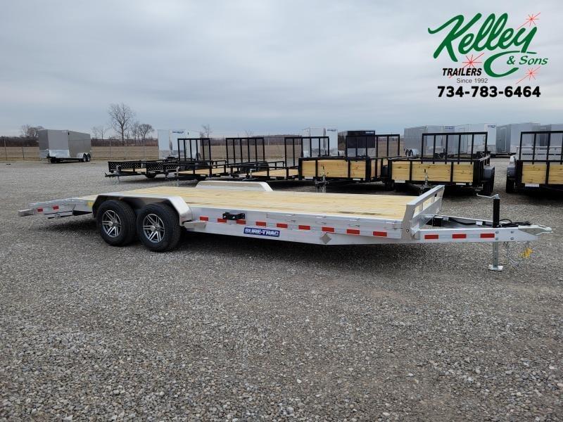 2021 Sure-Trac 7x22(18+4) 10K Aluminum Wood Deck C-Channel Car Hauler Trailer