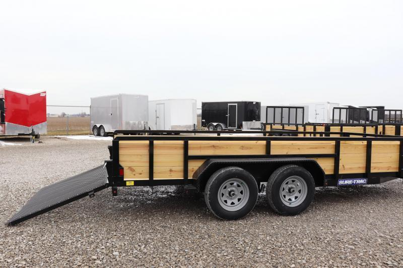 2021 Sure-Trac 7x16 7K 3-Board Utility Trailer