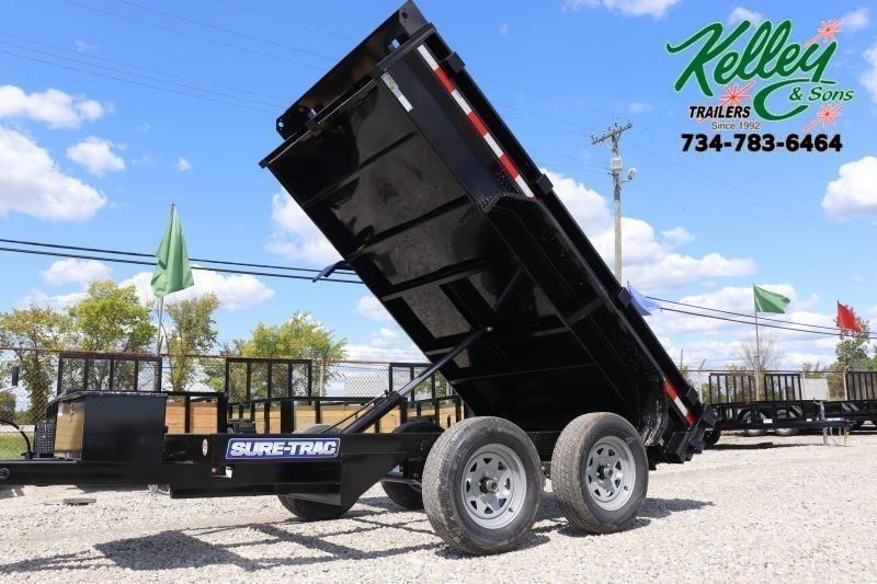 "2021 Sure-Trac 62""x10 7K Single Ram Dump Trailer"
