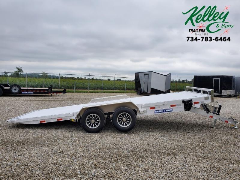 2021 Sure-Trac 7x20 10K Aluminum Deck Aluminum Tilt Car Hauler (Electric/Hydraulic)