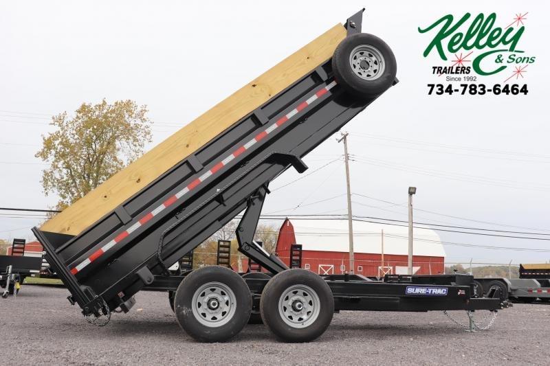 "2020 Sure-Trac 82""x16 14K Scissor Dump Pro Series Trailer"