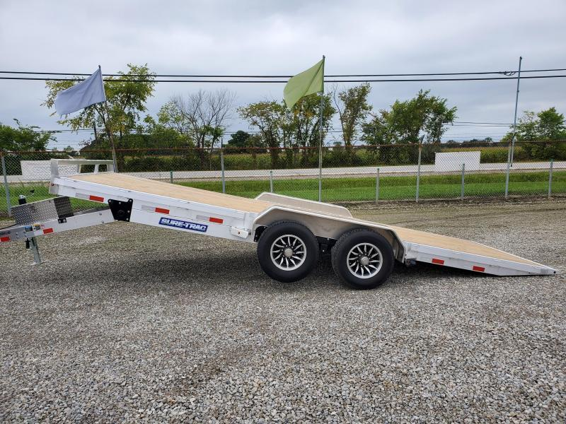 2021 Sure-Trac 7x20 10K Wood Deck Aluminum Tilt Car Hauler (Electric/Hydraulic)