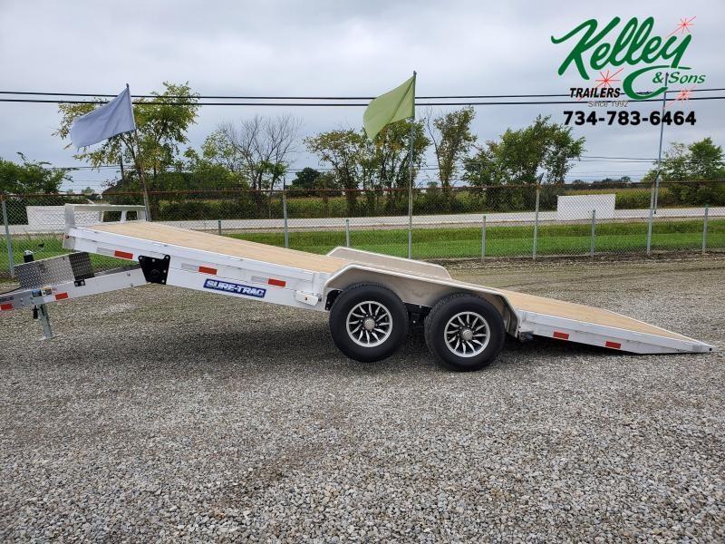 2021 Sure-Trac 7x20 10K Wood Deck Aluminum Tilt Car Hauler (Electric/Hydraulic)
