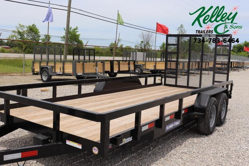 2021 Sure-Trac 7x18 10K Tube Top Utility Trailer