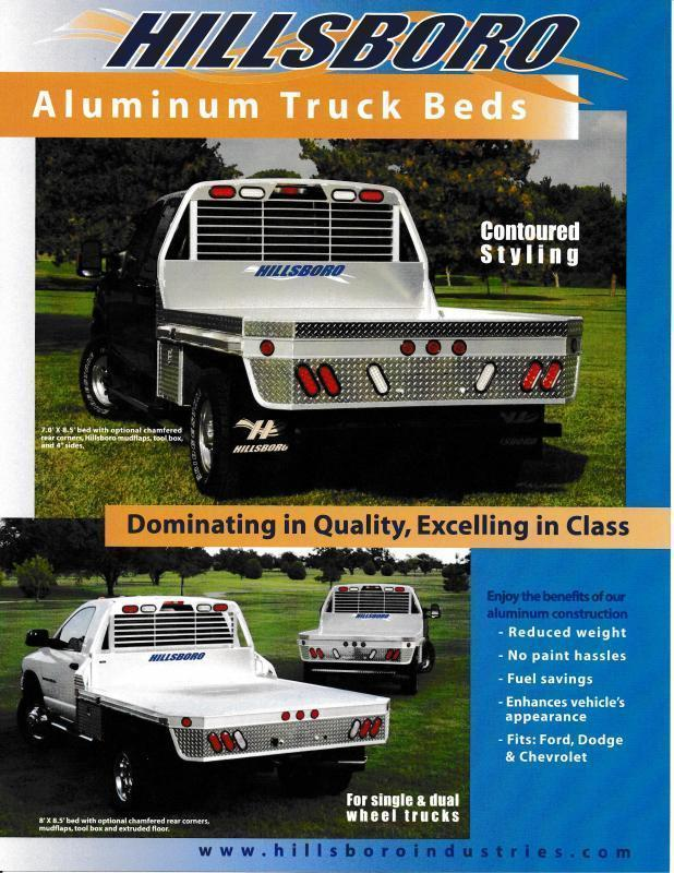 2021 Hillsboro Industries 2000 Series Aluminum Single Wheel Short Bed