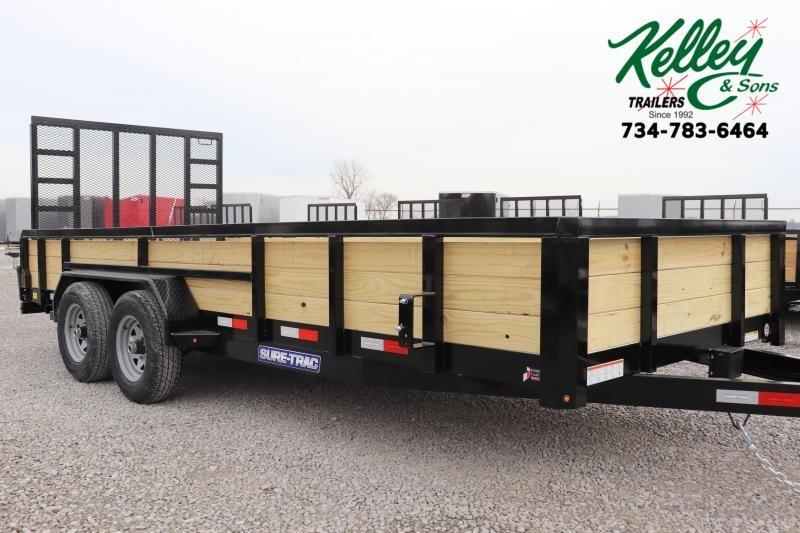 2021 Sure-Trac 7x18 10K 3-Board Utility Trailer