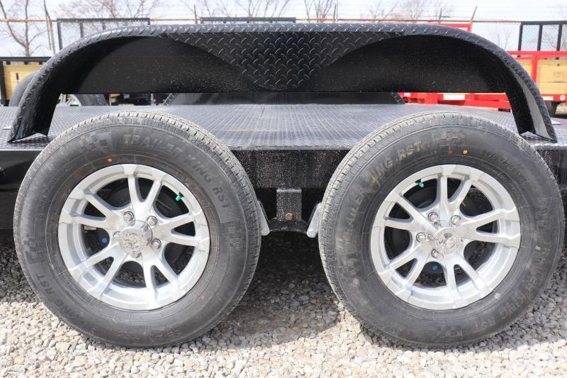 2021 Sure-Trac 7x18 7K Steel Deck Car Hauler Trailer