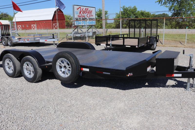 2020 Sure-Trac 7x18 7K Steel Deck Car Hauler Trailer