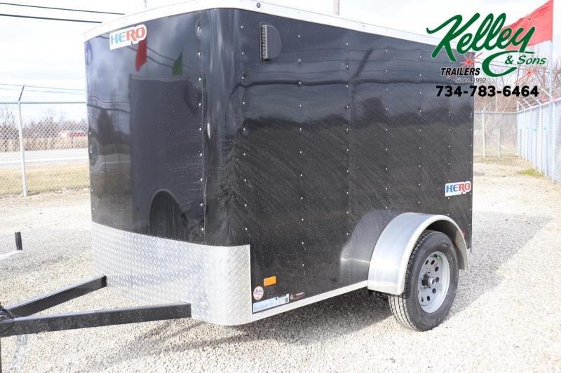 2021 Bravo Trailers 5x8 Hero w/ Single Rear Door Enclosed Cargo Trailer