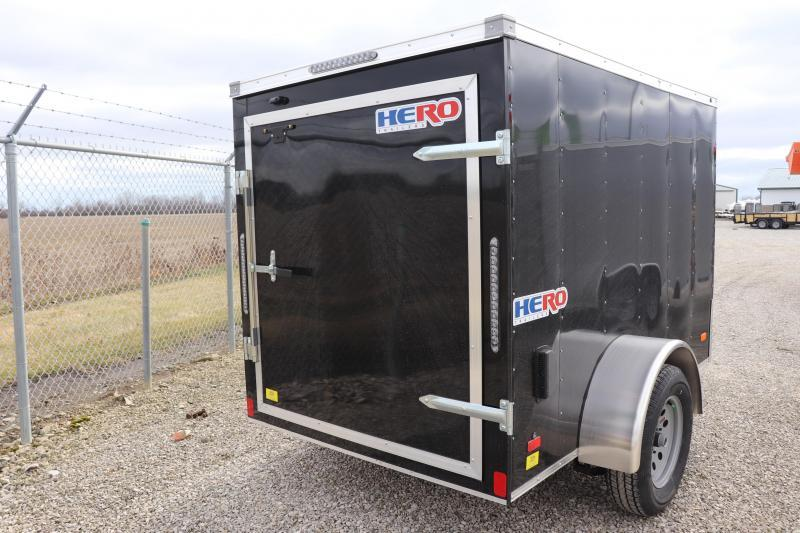 2021 Bravo Trailers 5x8 Hero w/ Single Rear Door Enclosed Cargo Trailer