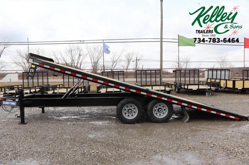 """2021 Sure-Trac 102""""x22 17.6K Deckover Tilt Flatbed Trailer"""