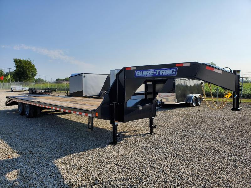 2020 Sure-Trac 8.5x25+5 22.5K Deckover Gooseneck Flatbed Trailer