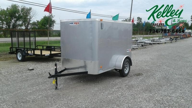 2020 Bravo Trailers 5x8 Hero w/ Single Rear Door Enclosed Cargo Trailer